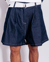 Bleach Utility Pleated Wide Shorts Details