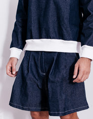Bleach Utility Pleated Wide Shorts Main