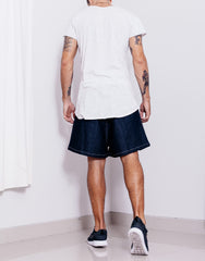 Bleach Utility Pleated Wide Shorts Back