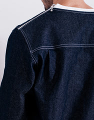 Bleach Denim Utility Pocket Sweater back