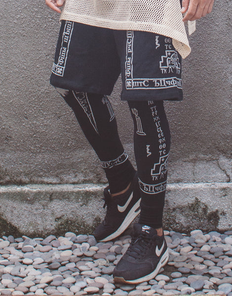 KTZ Church Print Shorts with Leggings