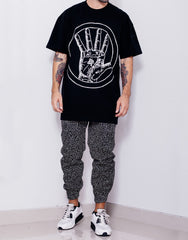 Dystopia Astro Hand Tee Black Outfit