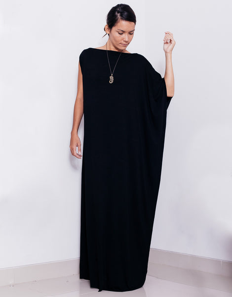 eleven44 Asymmetric Maxi Dress Black