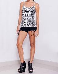 eleven44 Geo Print Tank Top Outfit
