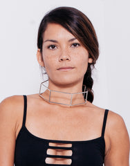 eleven44 Cage Choker Silver Front