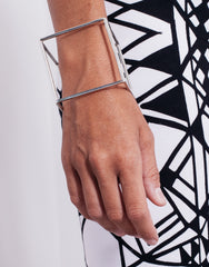 eleven44 Cube Cuff Bracelet Silver Outfit