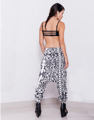 eleven44 Geo Low Crotch Pants Outfit Back