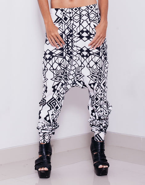 eleven44 Geo Low Crotch Pants