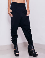 eleven44 Black Low Crotch Pants Main