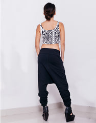 eleven44 Black Low Crotch Pants Outfit Back
