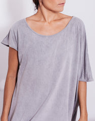 eleven44 Asymmetric Bamboo Tee Grey Details