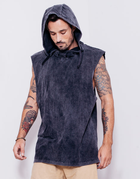 Naken In Da Hood Muscle Tee Black Wash