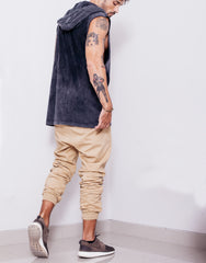Naken In Da Hood Muscle Tee Black Wash Side