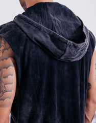 Naken In Da Hood Muscle Tee Black Wash Hood