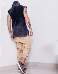 Naken In Da Hood Muscle Tee Black Wash Back