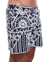 KTZ Sun Moon Print Shorts Side