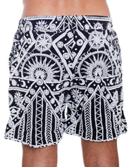 KTZ Sun Moon Print Shorts Back