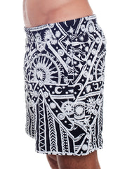 KTZ Sun Moon Print Shorts Left