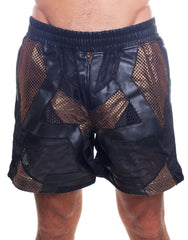 KTZ Net Patchwork Shorts