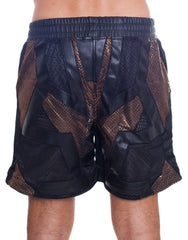 KTZ Net Patchwork Shorts Back