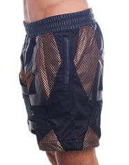 KTZ Net Patchwork Shorts Side
