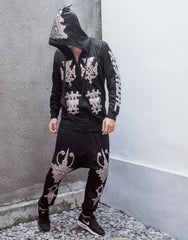 KTZ Embro Metallic Jewel Patch Hoodie Jacket Outfit