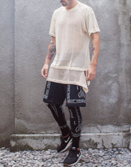 KTZ Church Print Shorts with Leggings Outfit