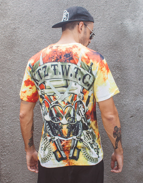 KTZ Explosion Digital Printed T-shirt