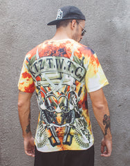KTZ Explosion Digital Printed T-shirt Back