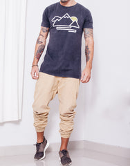 Usual Suspect Mountain Tee Black Wash