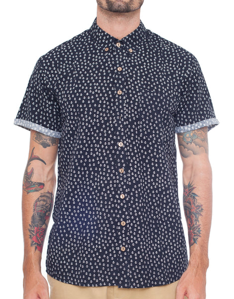 Naken Navy Anchor Vacay Shirt