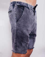 Naken Soul Shorts Black Wash Side