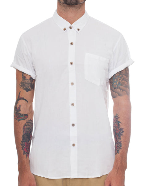 Naken Short Sleeve White Vacay Shirt