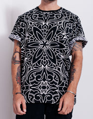 Nemis Abstraction Oversized Tee Black Main