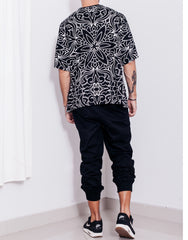 Nemis Abstraction Oversized Tee Black Back