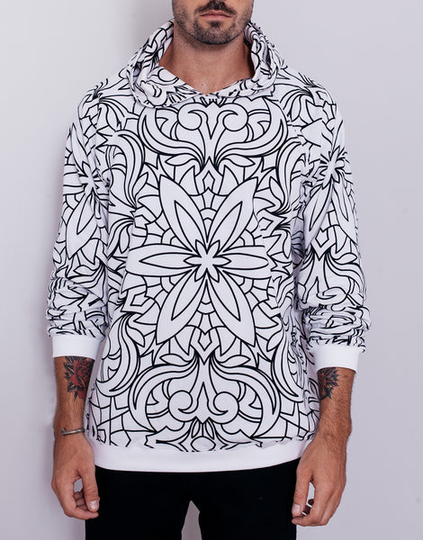 Nemis Abstraction Hoodie White