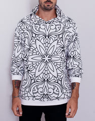 Nemis Abstraction Hoodie White Main