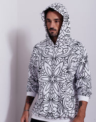 Nemis Abstraction Hoodie White Front