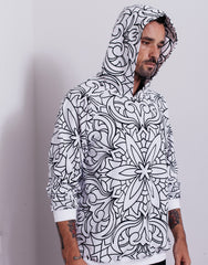 Nemis Abstraction Hoodie White Side