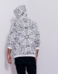 Nemis Abstraction Hoodie White Back