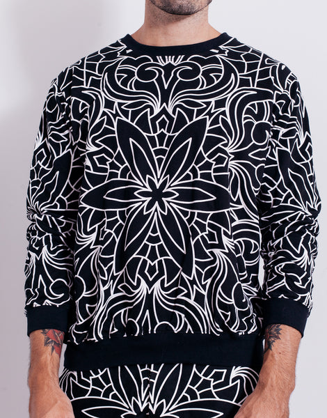 Nemis Abstraction Sweater Black