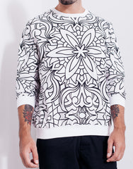 Nemis Abstraction White Sweater Main