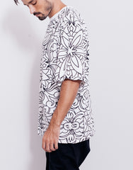 Nemis Abstraction Tee White Side