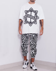 Nemis Oversized Knights Logo Tee White Front