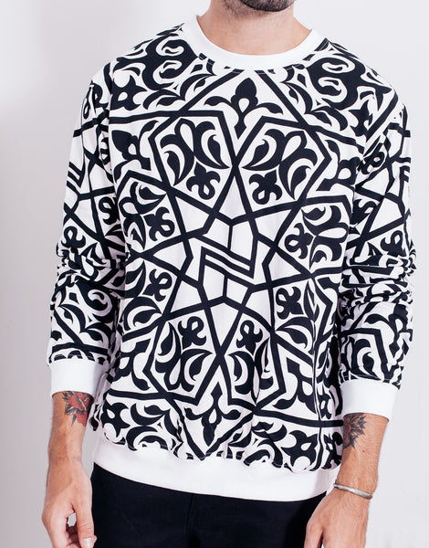 Nemis Arabic Logo Sweater White