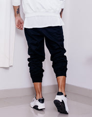 Nemis Black Tapered Pants Back Outfit