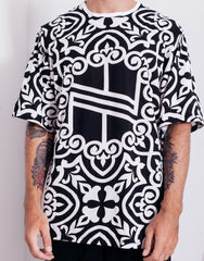 Nemis Knight Full Print Logo Tee Black Main