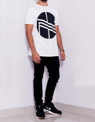 Nemis White Logo Tee Outfit Side