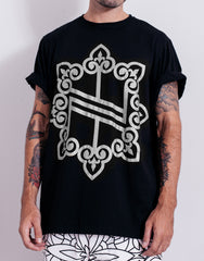 Nemis Oversized Knights Logo Tee Black Silver Main