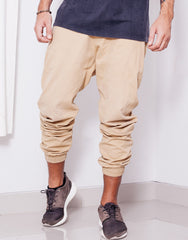 Nemis Tapered Sand Pants Front